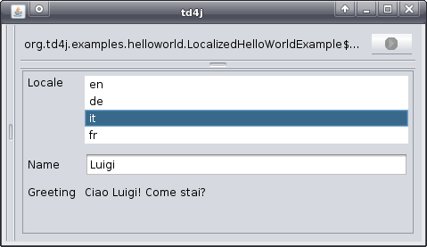 Localized HelloWorld Example